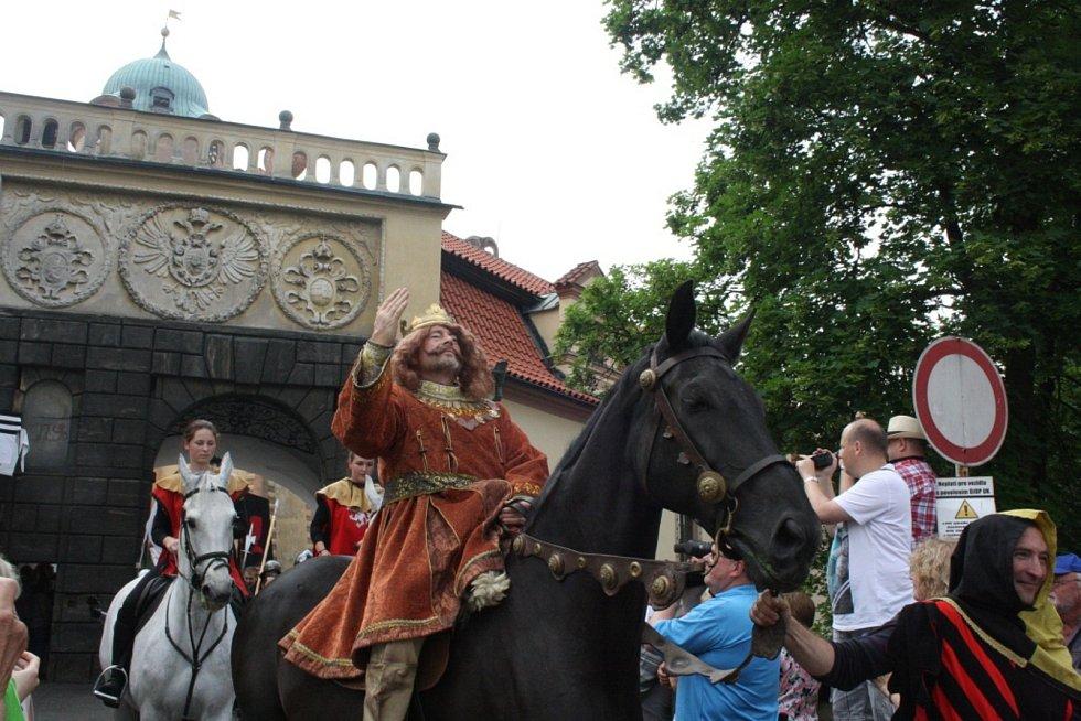 Z jednoho z předchozích ročníků Slavností krále Jiřího.