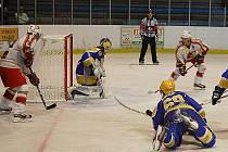 Z utkání druhé hokejové ligy Nymburk - Žďár n. S. (2:3 po sam. nájezdech)