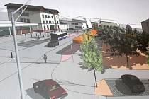 Vizualizace města s představou přednádražního prostoru.