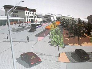 Vizualizace města s představou přednádražního prostoru