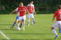 Z pohárového utkání Libice - Velim (1:3)