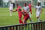 Z přípravného fotbalového utkání Velim - Polaban Nymburk