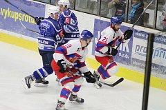 Z hokejového utkání druhé ligy Kolín - Nymburk (3:4)