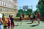 Ze slavnostního otevření hřiště za Základní školou Tyršova v Nymburce.