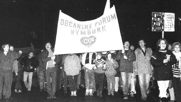 Občanské fórum fungovalo také v Nymburce