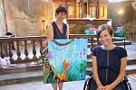 Výstava Terapie malbou je zatím první výstavou Petry.