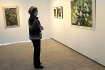 Z expozice 'Lesem polem' malířky Julie Winterové Mezerové v Galerii Ludvíka Kuby v Poděbradech.