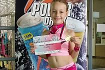 VÍTĚZKA. Poděbradská závodnice Patricie Gramanová vyhrála na závodech v Náchodě v kategorii do sedmi let