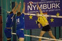 JE TO DOMA. Volejbalisté Nymburka udrželi třetí místo v základní části a v prvním zápase play off budou mít výhodu domácího prostředí. Narazí na šesté Dobřichovice