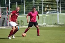 Z přípravného fotbalového utkání Bohemia Poděbrady - Lysá n. L. (1:1)