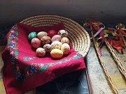 Oslavy velikonoc ve skanzenu v Kouřimi.