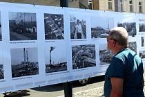 Výstava věnovaná 150 letům železnice v Nymburce.