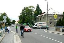 Křižovatka před nemocnicí