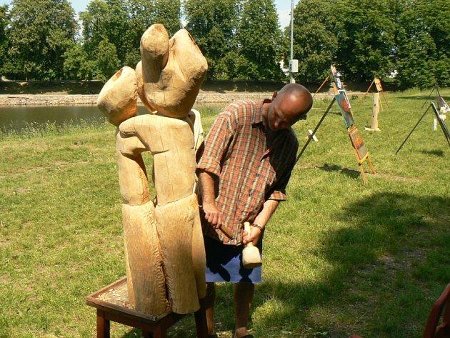 Dřevosochání na Špičce v Nymburce
