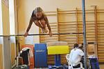 Z gymnastických závodů v Poděbradech