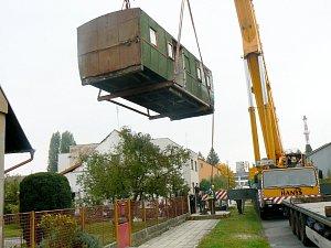 Stěhování poštovního vagónu