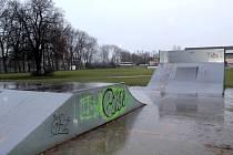 Současná podoba skateparku.