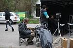 Filmový štáb natáčel u motorestu Ohio v Kersku scénu z krimiseriálu