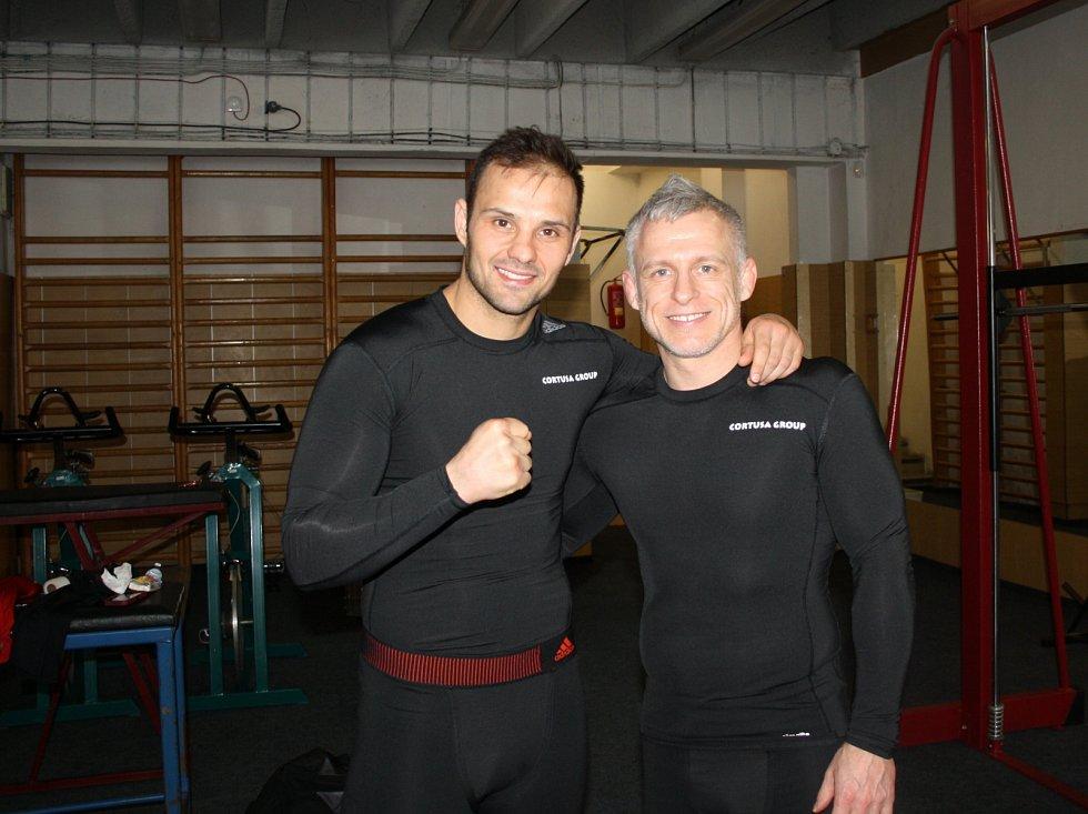 Pro boxera Štěpána Horvátha je čest trénovat v nymburském Sportovním centru.