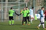 Z přípravného fotbalového utkání dvou okresních celků: Bohemia Poděbrady - Ostrá