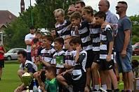 Z fotbalového turnaje žáků Mirakulum Cup, který se konal na hřišti v Milovicích