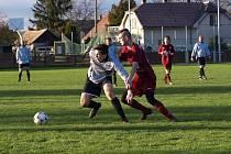 Fotbalisté Běrunic prohráli doma s rezervou poděbradské Bohemie 1:4.