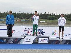 STŘÍBRO. Nymburský kajakář Tomáš Hradil skončil na závodech olympijských nadějí na trati dvě stě metrů na druhém místě.