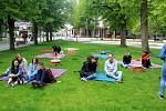 Minulý týden se v lázeňském parku konala akce s názvem Férová snídaně.