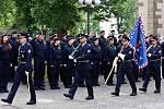 Slavnostní slib nově přijatých policistů.