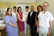 V nymburské porodnice se narodilo letos už 800. miminko. Stala se jím Hanička Svodová z Milovic.