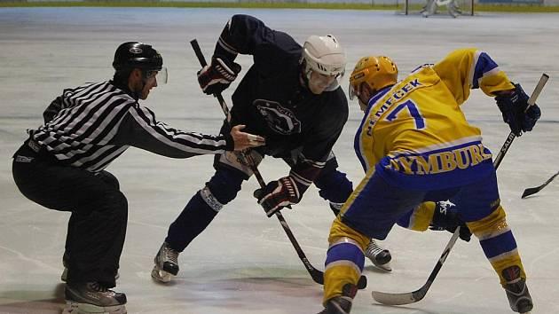 Z utkání druhé hokejové ligy Nymburk - Chotěboř (6:4)