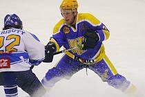 Z utkání druhé hokejové ligy Nymburk - Řisuty (3:2)