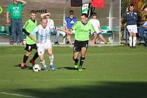 Z fotbalového utkání I.B třídy Milovice - Sadská (2:3)
