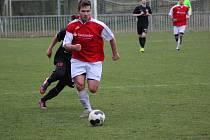 Z fotbalového utkání krajské I.A třídy Poříčany - Libice nad Cidlinou (5:1)
