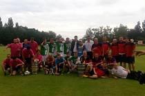 Třetí ročník turnaje v malé kopané v Městci Králové vyhráli domácí fotbalisté.