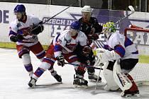 Z hokejového utkání druhé ligy Nymburk - Žďár nad Sázavou (2:3 sn)