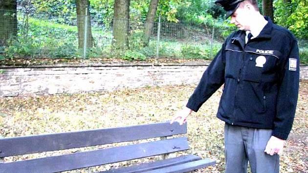 Místo, kde policisté našli bezvládného mladíka