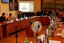 V zasedací místnosti radnice jednal dětský parlament.