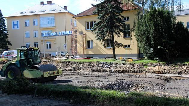 Situace na staveništi ve středu 2. září v 10.45.