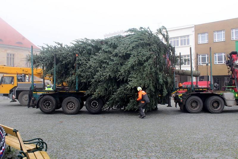 Vánoční strom pro Nymburk byl v roce 2020 pokácen v Jizbicích a převezen na náměstí. Slavnostně pak byl rozsvícen v neděli 29. listopadu.