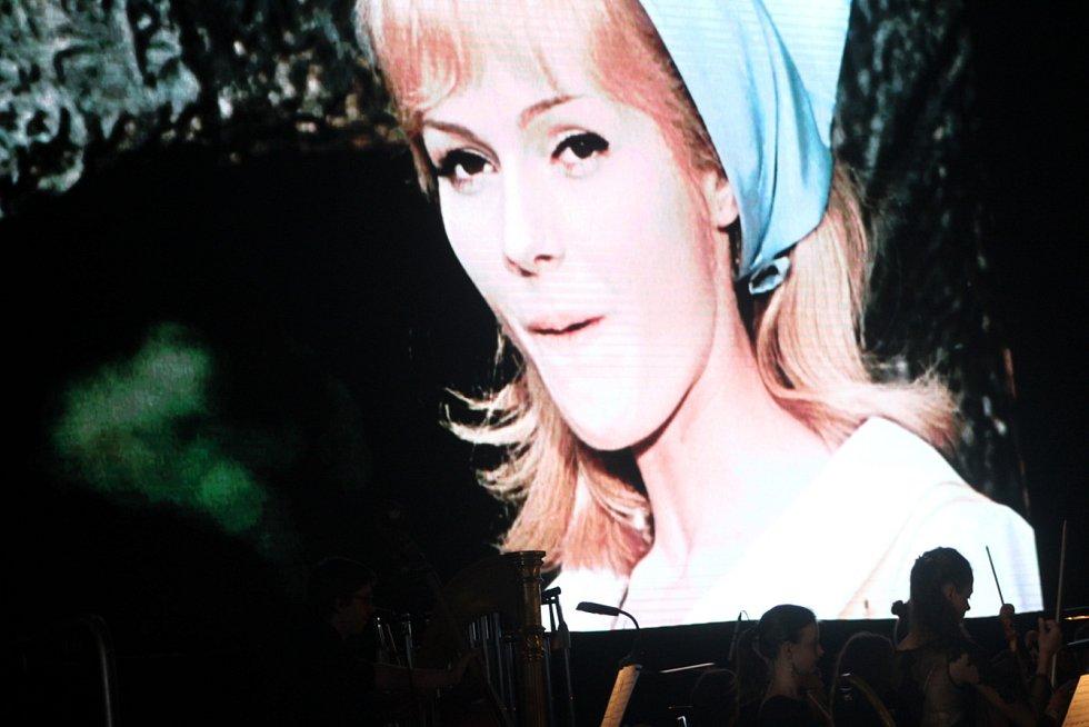 Při projekci Šíleně smutné princezny se na pódium podíval i Václav Neckář.