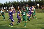 Z divizního fotbalového utkání Poříčany - Polaban Nymburk (3:0)