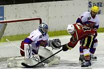 Z hokejového utkání druhé ligy Nymburk - Jablonec (6:5 sn)