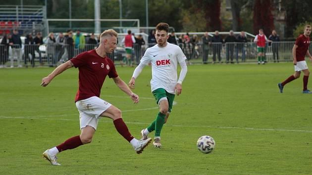 Z fotbalového utkání krajského přeboru Bohemia Poděbrady - Polaban Nymburk (2:0)