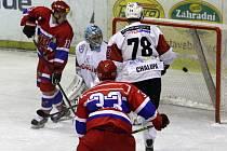 Z hokejového utkání druhé ligy Nymburk - Klatovy (2:5)