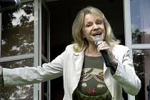 Eva Pilarová zazpívala v Poděbradech