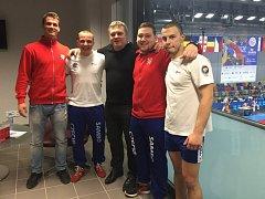Milovičtí borci na evropském šampionátu v sambu.