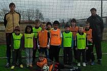 Mladí semičtí fotbalisté na soustředění