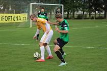 Z divizního fotbalového utkání Polaban Nymburk - Hostouň (3:1)