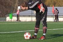 JEDNIČKA. Poděbradský gólman David Václavík vychytal v minulé sezoně třináct čistých kont. Klobouk dolů